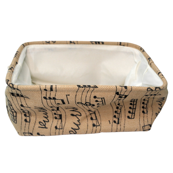 Rectangular Music Notes Basket