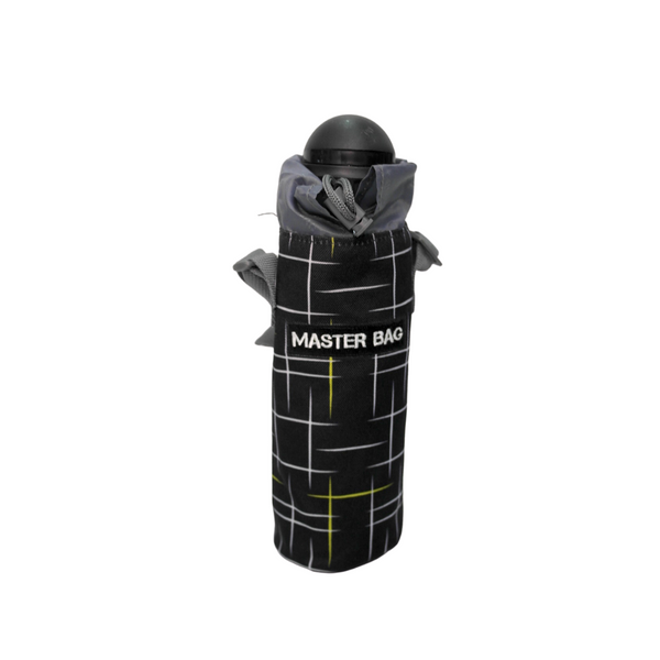 Master Bag Black Lined Water Bottle