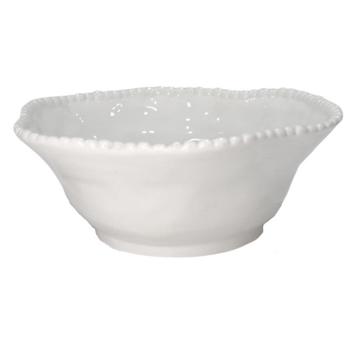 Porcelain Bowl w/ Pearl Edges - Akil Bros