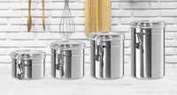 Stainless Steel Canisters (Set of 4)