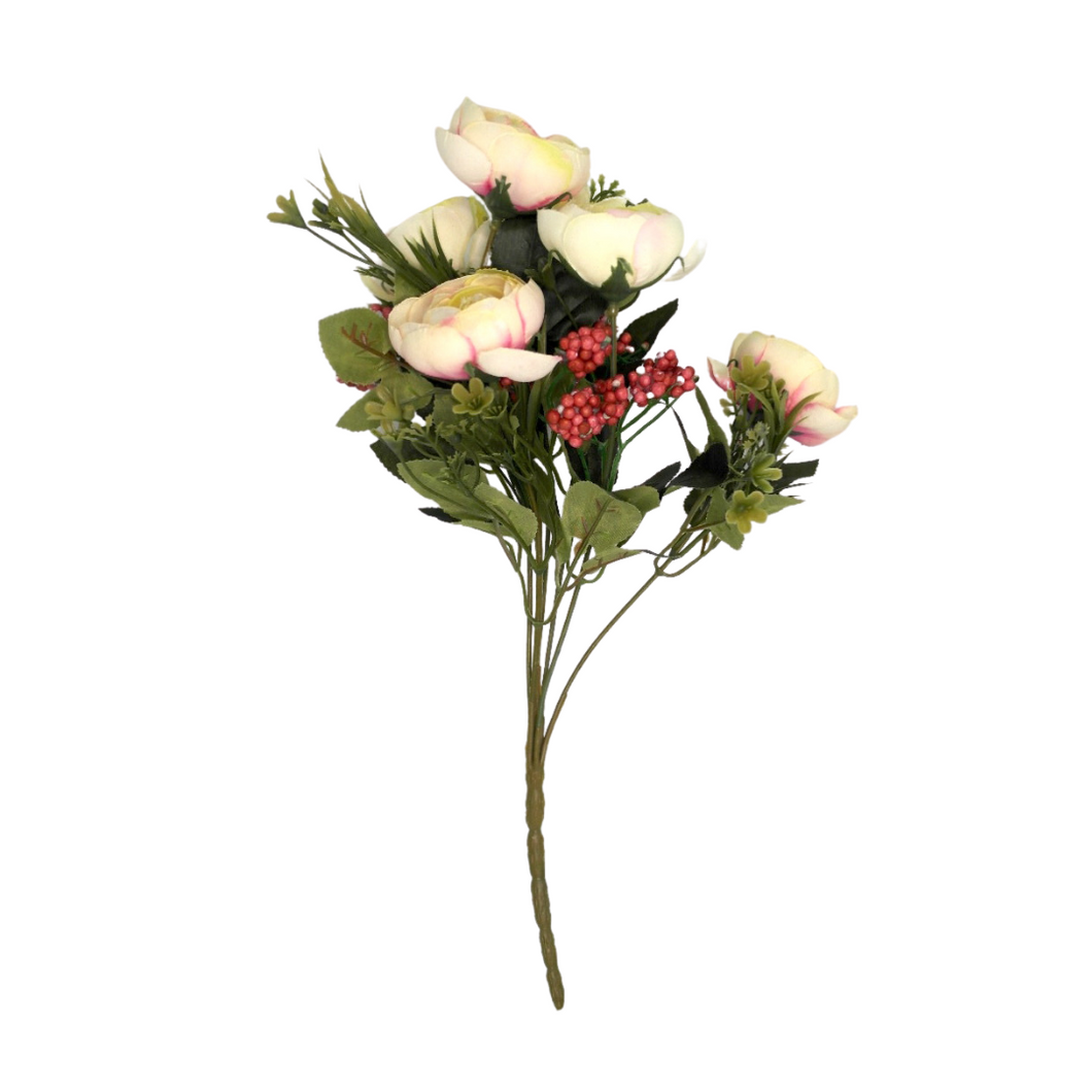 Artificial White and Pink Flowers - Akil Bros