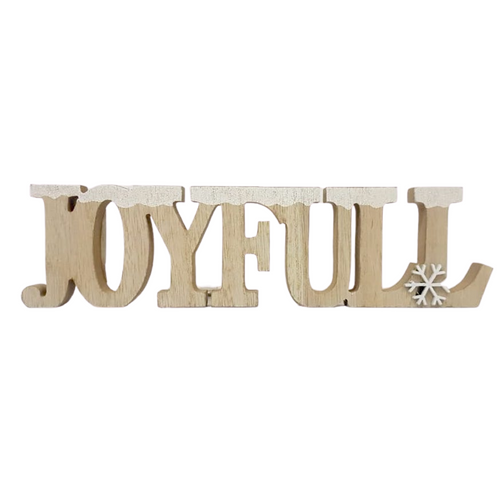 Joyful Wooden Ornament - Akil Bros