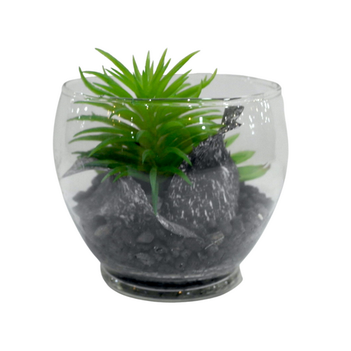 Artificial Plant and Rocks Vase - Akil Bros