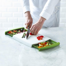 Load image into Gallery viewer, Chop n' Clear Chopping Board w/ Retractable Drawers - Akil Bros