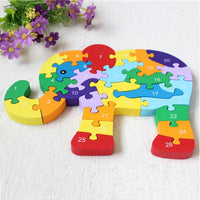 Numbered Elephant Jigsaw Puzzle