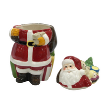 Load image into Gallery viewer, Large Christmas Santa Ceramic Jar