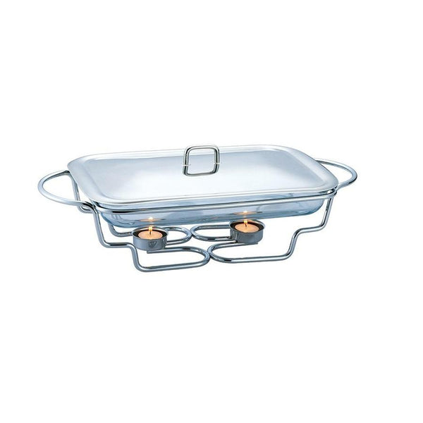 Glass Food Warmer - Rectangle