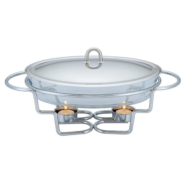 Glass Food Warmer - Oval