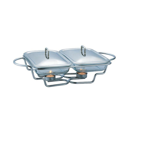 Dual Tray Food Warmer - Rectangle