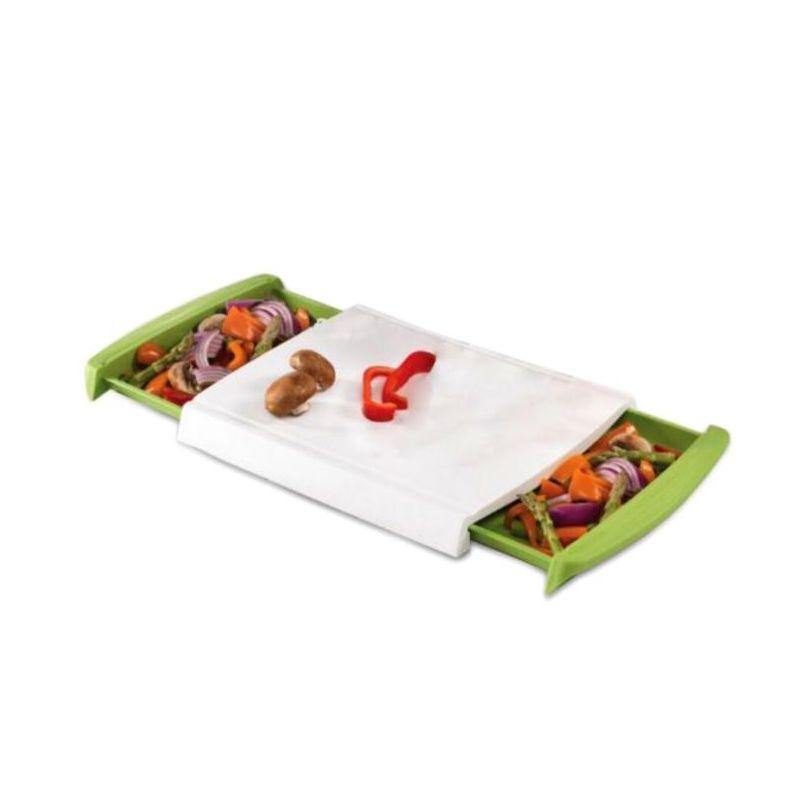Chop n' Clear Chopping Board w/ Retractable Drawers - Akil Bros