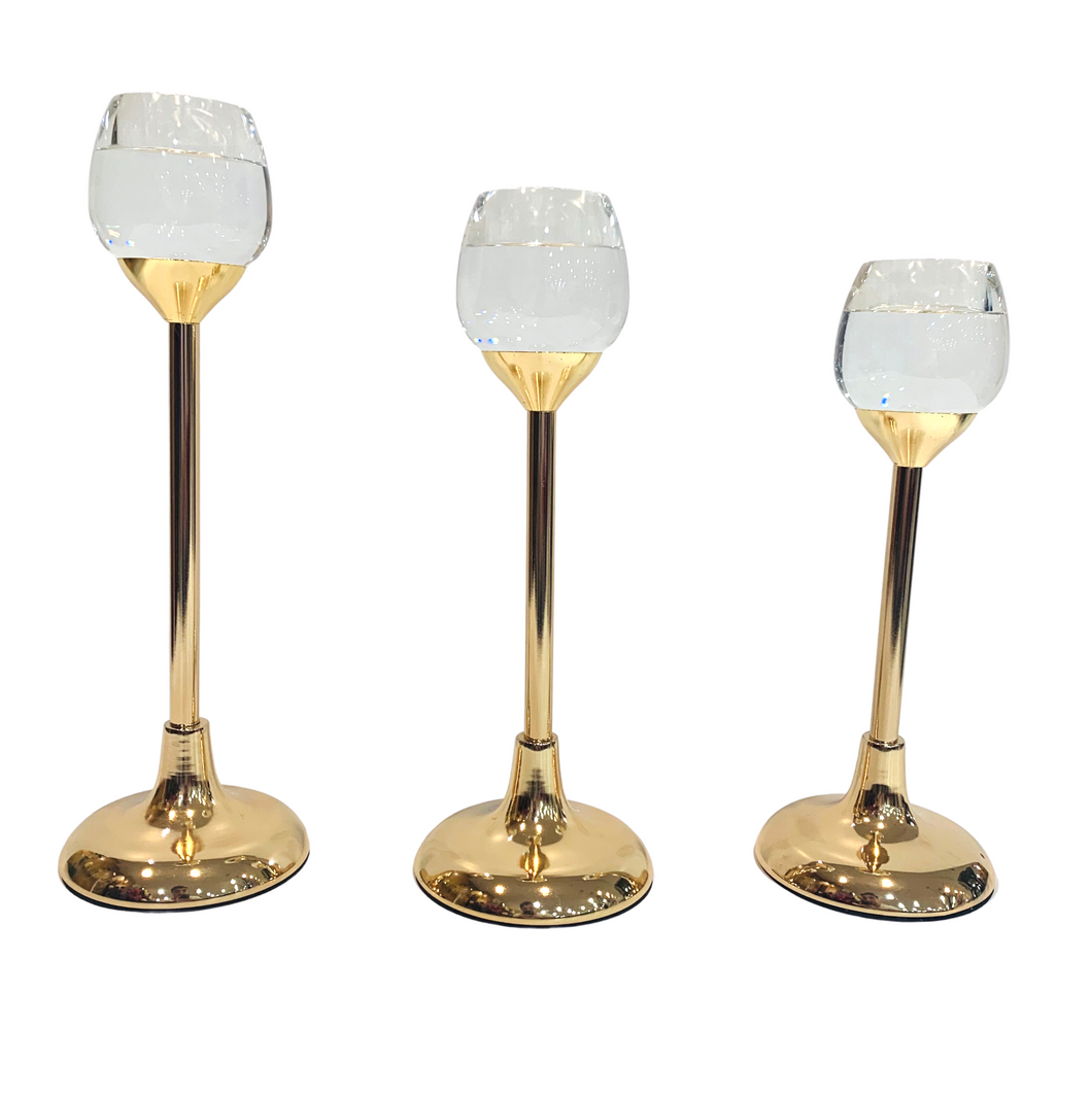 Crystal Candle Holders - Akil Bros