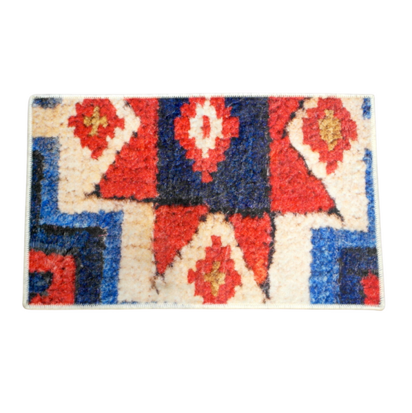 Red Star Wool Rug (50 x 75 cm)