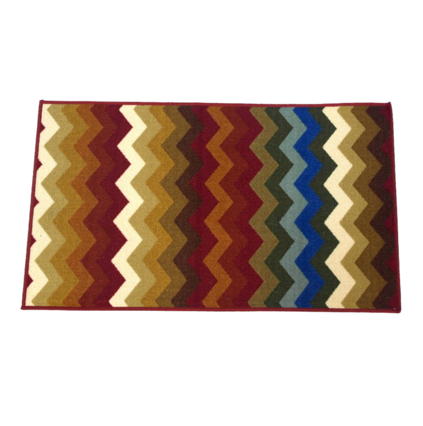 Warm Colors Zigzag Rug (114 x 67 cm)