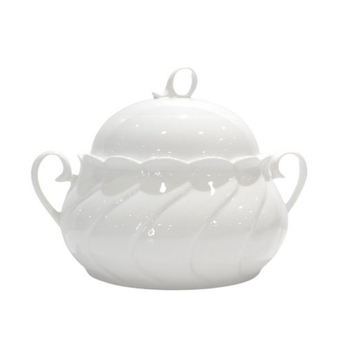 Porcelain Covered Soup Bowl w/ Handles - Akil Bros