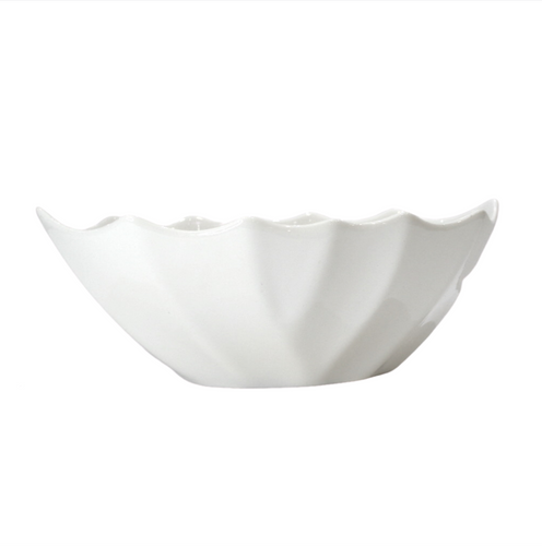 Porcelain Bowl w/ Wavy Edges - Akil Bros