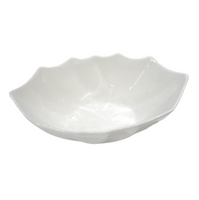 Porcelain Bowl w/ Wavy Edges