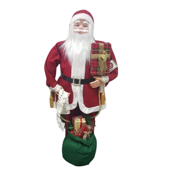 Life-Size Santa with List