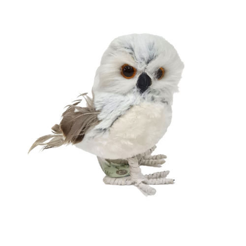 Owl Plush with Feathers - Akil Bros