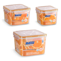 Matsu Large Square Plastic Food Containers (3 PCS)