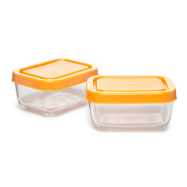 Pasabahce Snowbox Glass Food Container (Set of 2)