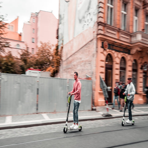 electric scooter in city