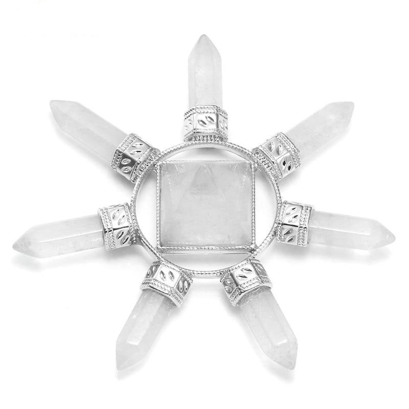 Clear Quartz Seven Direction Reiki Stone