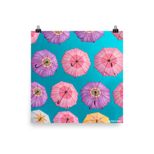Load image into Gallery viewer, Flower Umbrellas Poster