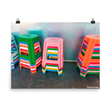 Load image into Gallery viewer, Colorful Korean Stools Poster