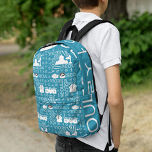 Load image into Gallery viewer, Seoul / 서울 Block Pattern (Blue) Backpack