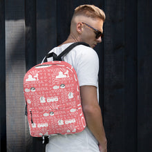 Load image into Gallery viewer, Seoul / 서울 Block Pattern (Pink) Backpack