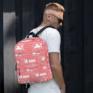 Seoul / 서울 Block Pattern (Pink) Backpack