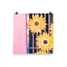 Load image into Gallery viewer, Yellow Flowers & Pink Walls Poster