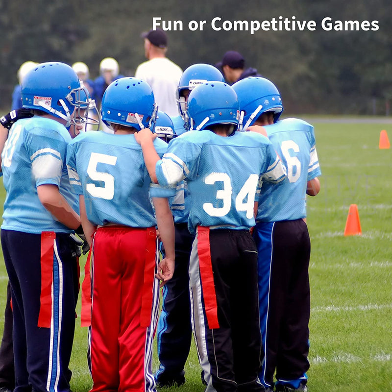 Trained 10 Man Flag Football Set & eBook With Rubber Connectors