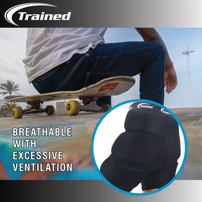 Trained Padded Protective Shorts for Snowboarding, Skiing, Skating, Outdoors, Extreme Sports: 3D Hip, Butt and Tailbone Protection