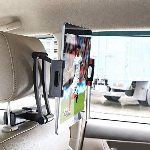 Grace Signature Adjustable Tablet Holder Car Backseat Cell Phone Mount Stand Headrest for 4-10.4 Inches Devices