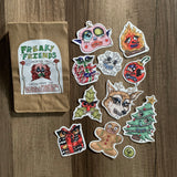 holiday clown sticker pack #1