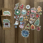 holiday clown sticker pack bundle