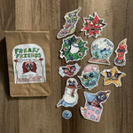 holiday clown sticker pack #2