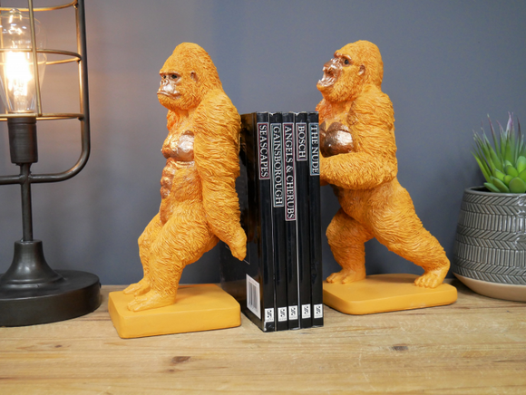 Pair of Gorilla Bookends