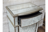 Silver Crackle Storage Cabinet Small 2
