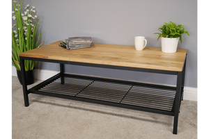 Elm Wood Industrial Coffee Table 2
