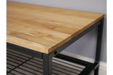 Elm Wood Industrial Coffee Table 5