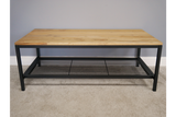 Elm Wood Industrial Coffee Table