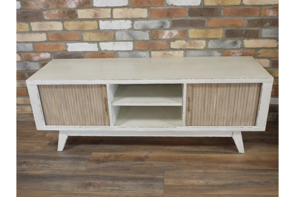 Retro White TV Cabinet