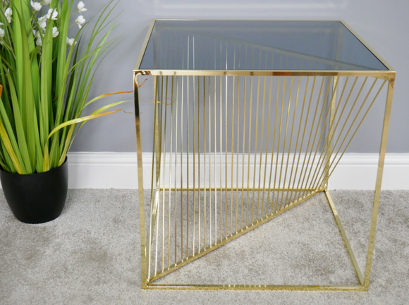 Gold detail side table