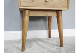 Acacia Solid Wood Bedside Cabinet 5