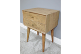 Acacia Solid Wood Bedside Cabinet 3