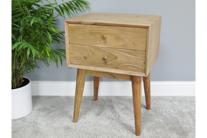 Acacia Solid Wood Bedside Cabinet