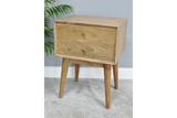 Acacia Solid Wood Bedside Cabinet 2
