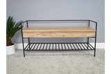 Acacia Solid Wood Storage Bench 10
